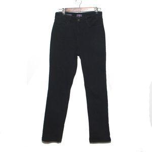 NYDJ Black Marilyn Straight Jeans Size 10